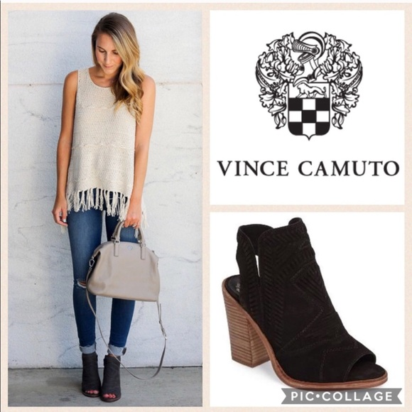 7824981e20 Vince Camuto Karinta Block Heel Bootie {Black} 9.5.  M_5a344623f9e501b1500165a7